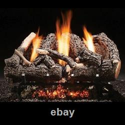 Fireside America Heritage Char Vent Free 18 Gas Logs with Manual Valve NG