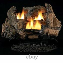 Fireside America Tupelo 2 Vent Free 24 Gas Logs with Millivolt Control NG