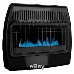 Garage Heater Gas Wall Dyna Glo 30,000 BTU Blue Flame Vent Free Dual Fuel