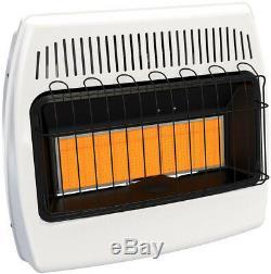 Gas Infrared Wall Heater Radiant Indoor Vent Free Cabin Garage Home 30,000 BTU