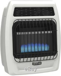 Gas Wall Heater 10000 BTU Liquid Propane Blue Flame Vent Free Thermostatic White