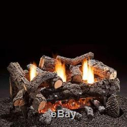 Hargrove 30-Inch Cozy Fire Vent-Free Natural Gas Log Set Remote Ready