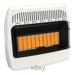 Heater Gas Propane Vent Free Infrared 30,000 BTU LP Wall Home Cabin Garage