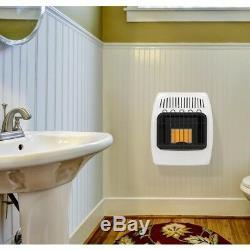 Heater Wall Liquid Propane Vent Free Infrared White Surface Mounted 6000 BTU