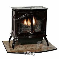 Heritage Cast Iron Porcelain Black Vent-Free Stove VFD30CC70BN Natural Gas