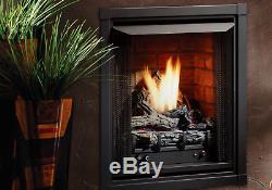 Kingsman ZVF24 Zero Clearance Vent Free Natural Gas Firebox with Log Set & Burner