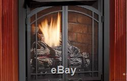 Kingsman ZVF24 Zero Clearance Vent Free Natural Gas Firebox with Pull Screens