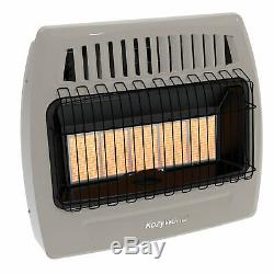 Kozy World KWN523 30,000 Btu 5 Plaque Natural Gas Infrared Vent Free Wall Heater