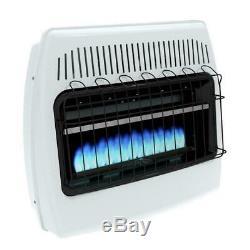Liquid Propane Gas Wall Heater 30000 BTU Vent Free Blue Flame Indoor Home Room