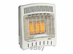 Manual Control 16500 BTU Infrared Radiant LP Gas Vent Free Heater