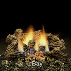 Monessen Charred Timber Ventless Gas Logs -With Remote-18, 24 or 30 NG or LP