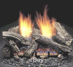 Monessen Split Maple Vent Free Gas Log 18 with Remote Control Natural Gas