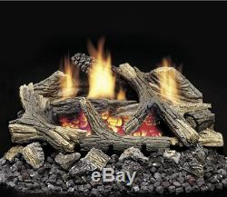 Monessen Vent Free Gas Log 30 Natural Gas Aged Hickory DEB30NV Remote Ready