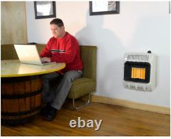 Mr. Heater 10,000 BTU Vent Free Radiant Natural Gas Heater Shed Garage Home