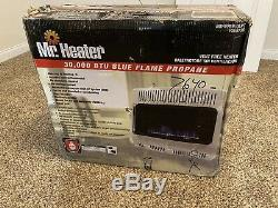Mr Heater 30000 BTU Vent Free Blue Flame Propane Gas Wall or Floor Indoor Heater