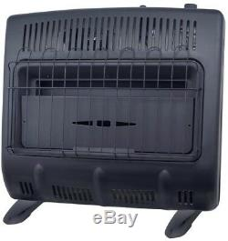 Mr. Heater Vent Free Blue Flame Natural Gas Garage Heater 30,000 BTU Electric