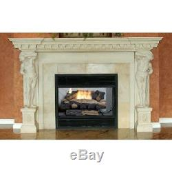 Natural Gas Fireplace Logs 24-In Oakwood Vent-Free Log with Thermostatic Control