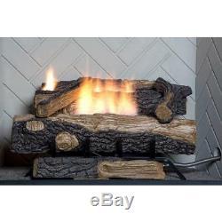Natural Gas Fireplace Vent Free Logs Heat Automatic shut-off Oxygen Sensor 24