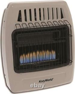 New Kozy World Kwd154 Ambient Flame Natural Or Propane Gas Heater 10k Vent Free