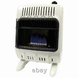 New Mr Heater F299310 Blue Flame Dual Fuel Gas Wall Heater 10k Vent Free