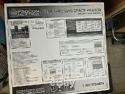New Procom ML3PHG 28,000 BTU Vent Free PROPANE LP GAS Infrared Wall Heater