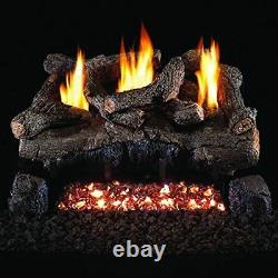 Peterson Real Fyre 30-inch Evening Fyre Log Set With Vent-free Electronic ng/lp