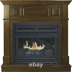 Pleasant Hearth Vent-Free Fireplace- 27,500 BTU 42in Natural Gas Heritage Finish