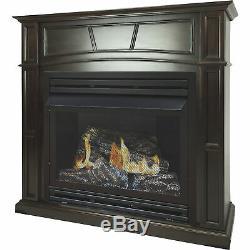 Pleasant Hearth Vent-Free Fireplace- 32,000 BTU 46in Natural Gas Tobacco Finish