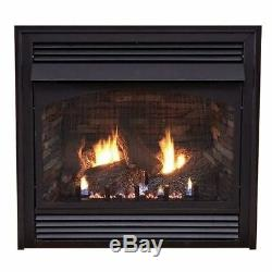 Premium 32 Vent-Free Thermostat Control NG Fireplace with Blower