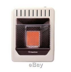 ProCom, 10,000 BTU, Dual Fuel, Vent Free, Infrared Wall Heater