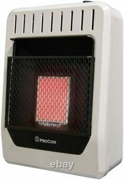 ProCom 10,000 BTU Natural Gas Vent Free Infrared Wall Heater