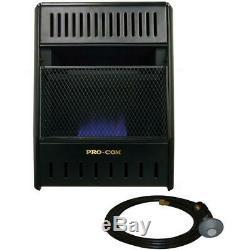ProCom 14 in Vent-Free Propane Gas Portable Heater Thermostat Medium Room Size