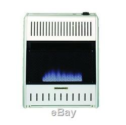 ProCom, 20,000 BTU, Dual Fuel, Vent Free, Blue Flame Gas Wall Heater