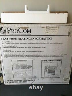 ProCom 25,000 BTU Propane vent free wall heater