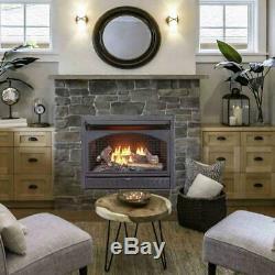ProCom 26,000 BTU Vent Free Dual Fuel Propane and Natural Gas Indoor Fireplace