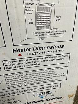 ProCom Dual Fuel Vent Free Blue Flame Gas Wall Heater, 10000 BTU -NEW