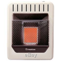 ProCom MG1TIR Dual Fuel Vent Free Infrared Wall Heater, 10000 BTU