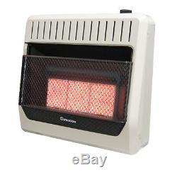 ProCom MG3TIR Dual Fuel Vent Free Infrared Wall Heater, 30,000 BTU, Model# MG3TIR