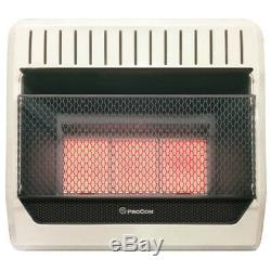 ProCom MN3PHG Natural Gas Infrared Wall Heater, 30000 BTU, Vent Free
