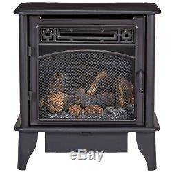 ProCom Vent Free Gas Fireplace Stove, Ventless Dual Fuel, Remote, 23,000 BTU