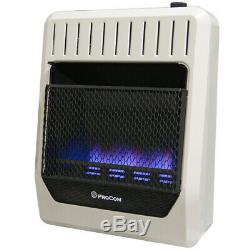 ProCom Ventless Dual Fuel Blue Flame Gas Heater, T-Stat, Vent Free 20,000BTU