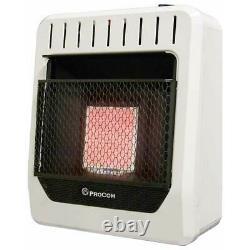 Procom Ventless Wall Heater 10000 BTU Propane Gas Infrared ML1PHG Vent Free