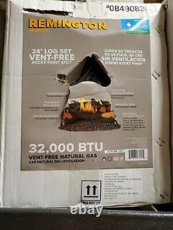 Remington 24in Rocky Point Vent Free 32,000 BTU Natural Gas Log Set (Open Box)