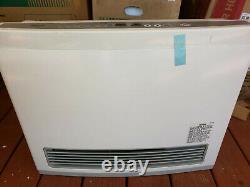 Rinnai FC824 White 22000 Btu Vent Free Propane Gas Fan Convection Space Heater