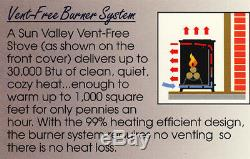 Sun Valley Cast Iron Gas Stove Heater Townsend II Vent Free Fixed Front