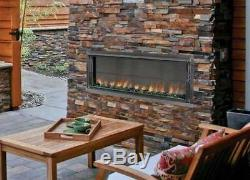 Superior 43 Electronic Ignition Linear Outdoor Vent-Free Fireplace-NG