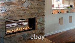 Superior Vent Free Linear Fireplace Clean Face 43 VRL4543ZEN Paris Lights