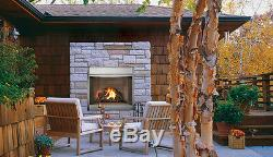 Superior's VRE4336ZEN Natural White Stacked Outdoor Vent-Free Gas Fireplace 36