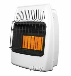 Thermostatic 18,000 BTU Infrared Vent Free Dual Fuel Wall Heater