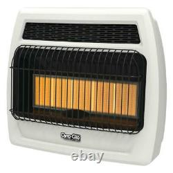 Vent Free Infrared Wall Heater Natural Gas Interrupted Spark Radiant White